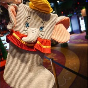 🎄🎪Disney Dumbo Christmas Knitted Stocking
